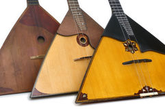Balalaika. An ancient Russian folk musical instrument Stock Photos