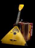 Balalaika and accordion Royalty Free Stock Photography