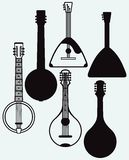 Balalaika, Banjo, Ukrainian kobza Royalty Free Stock Photo