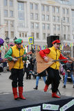 Balalaika del gioco dei musicisti sulla via Fotografia Stock Libera da Diritti