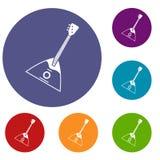 Balalaika icons set Royalty Free Stock Image
