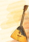 Balalaika - national Russian musical instrument. Royalty Free Stock Images
