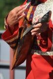 Balalaika. Playing the Russian national music instrument - balalaika Royalty Free Stock Photos