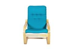 Balançar-cadeira azul isolada em um fundo branco imagem de stock royalty free