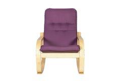 Balançar-cadeira lilás isolada em um fundo branco fotografia de stock royalty free