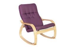 Balançar-cadeira lilás isolada em um fundo branco fotografia de stock