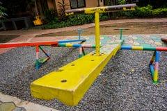 Balanço amarelo Fotografia de Stock Royalty Free