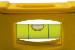 Balanço amarelo no fundo branco Fotografia de Stock