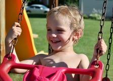 Balanço bonito do menino da criança Fotografia de Stock Royalty Free