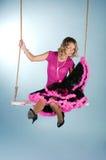 Balanço da mulher nova Fotografia de Stock