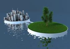 Balanço da natureza e da cidade Fotografia de Stock Royalty Free