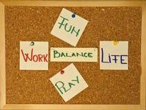Balanço da vida do trabalho com divertimento um jogo Imagens de Stock Royalty Free