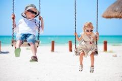 Balanço das crianças Fotos de Stock Royalty Free
