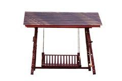 Balanço de madeira isolado Imagens de Stock Royalty Free