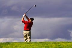 Balanço do jogador de golfe fotografia de stock