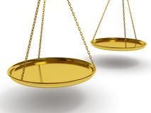 Balanço do ouro ilustração do vetor