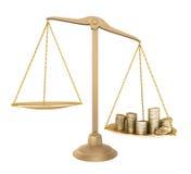 Balanço do ouro. Algo mais barato do que o dinheiro ilustração stock