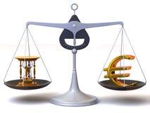Balanço do tempo e do dinheiro ilustração royalty free