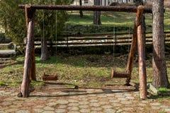 Balanço feito da madeira Imagem de Stock Royalty Free