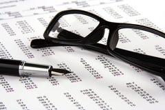 Balanço financeiro Foto de Stock