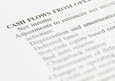 Balanço financeiro do rendimento líquido Imagens de Stock