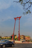 Balanço gigante ou Sao vermelho Ching Cha com a multidão do pombo, um o Fotos de Stock Royalty Free
