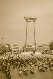Balanço gigante ou Sao vermelho Ching Cha com a multidão do pombo, um o Fotografia de Stock
