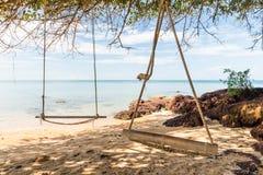 Balanço na praia Foto de Stock