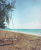Balanço na praia Imagem de Stock Royalty Free