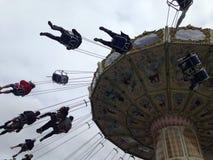 Balanço no parque de diversões Liseberg na Suécia de Gothenburg Imagem de Stock Royalty Free