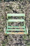 Balanço oxidado verde velho Foto de Stock