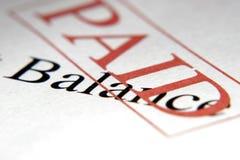 Balanço pago Foto de Stock
