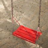 Balanço vermelho Foto de Stock Royalty Free