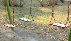 Balanços coloridos Fotografia de Stock Royalty Free