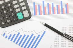 Balanços financeiros Imagens de Stock Royalty Free