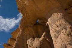 Balanç no libia bluesky do acacus do deserto Fotos de Stock Royalty Free