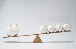 Balancê do mealheiro Imagem de Stock