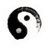 Balanc éventuel grand de yang de yin de peinture chinoise Photo stock