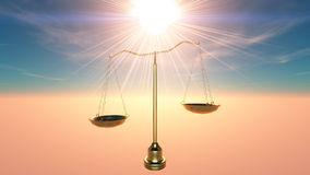 Balance. The sunshine and balance scales Stock Images