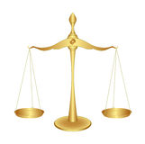 Balance. Gold pan balance in equilibrium Stock Photos