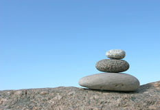 Balance. Stone stack against the clear sky Royalty Free Stock Images