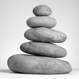 Balance. Finely balanced tower of natural stones Stock Images