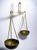Balance. Justice scale stock photo
