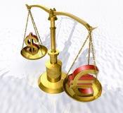 Balance. 3d illustration of gloden balance Royalty Free Stock Image