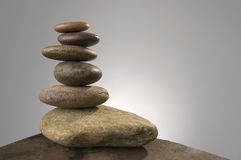 Balance. Balancing river rocks, prime number Royalty Free Stock Image