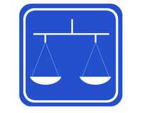 Balance. A typical blue sign showing a balance stock photos