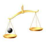 Balance. In vector you may easy accent it equilibrium Stock Photography