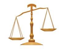 Balance. Golden balance on white background royalty free illustration