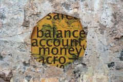 Balance account money Royalty Free Stock Photos