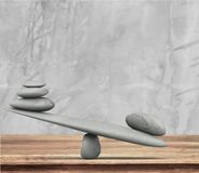 Balance. Weight scale stone simplicity comparison winning im stock photography